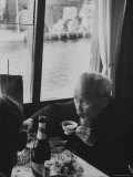 Indo Chinese Communist Leader Ho Chi Minh Drinking Tea at Reception During Official Visit to Poland Premium Photographic Print by Lisa Larsen
