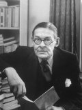 Portrait of American Born Poet and Dramatist T.S. Eliot in His Study Premium Photographic Print by Alfred Eisenstaedt