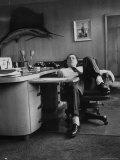 James R. Hoffa Slumped in Chair Teamsters Office Premium Photographic Print by Robert W. Kelley