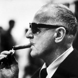 Producer Darryl F. Zanuck Lighting Cigar on the Set of Film 