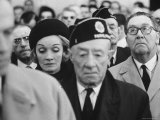 Actress Marlene Dietrich, at Memorial Service for John F. Kennedy, Headquarters of American Legion Premium Photographic Print by Ralph Crane