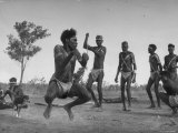 Australian Aborigines Filled with the Spirit of the Kangaroo, Dancing to Honor the Sacred Marsupial Premium Photographic Print by Fritz Goro