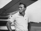 Golfer Arnold Palmer Reproduction sur métal par John Dominis