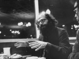 Poet Allen Ginsberg with Demonstrators During Democratic National Convention Premium Photographic Print by Lee Balterman