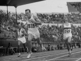Robert B. Mathias Crossing the Finish Line at 1952 Olympics Premium Photographic Print by Mark Kauffman