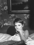 "Actress Mia Farrow in a Scene from Her New Movie, "" a Dandy in Aspic"" Premium Photographic Print by Bill Eppridge"