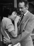 "Actors Anne Bancroft and Henry Fonda in Scene From Broadway Play ""Two for the Seesaw"" Premium Photographic Print by Alfred Eisenstaedt"