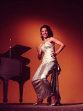 Singer and Actress Dorothy Dandridge Posing by a Piano Premium Photographic Print by Ed Clark