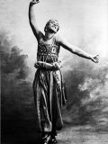 Posed Portrait of Dancer Vaslav Nijinsky in Costume from Scheherazade, Photographic Print
