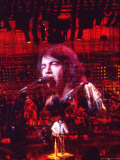 Multiple Exposures of Singer Neil Diamond Performing on Stage Premium Photographic Print by Michael Mauney