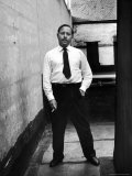 Tennessee Williams Standing W Cigarette, NYC 1955 Premium Photographic Print by Alfred Eisenstaedt