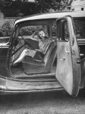 Former Girlfriend of Bill Elder, Now Serving in Navy, Sitting in Family's Car, Waiting for Return Photographic Print by Alfred Eisenstaedt