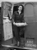 Member of Red Cross Clubmobile Katherine Spaatz, Dispensing Doughnuts, Coffee, Cigarettes and Gum Premium Photographic Print by Bob Landry