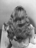 Actress Veronica Lake Posing with Her Glorious, Wavy Honey Blond Hair Cascading over Her Shoulders Reproduction photographique sur papier de qualit&#233; par Bob Landry