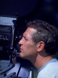 Actor Paul Newman Looking Through a Camera Premium Photographic Print by Mark Kauffman