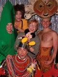 "Carol Burnett with Cast of Off Broadway Revue ""Forbidden Broadway"" Including Actor Bryan Batt Premium Photographic Print by Marion Curtis"