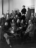 "Group Portrait of American Abstract Expressionists, ""The Irascibles"" Premium Photographic Print by Nina Leen"