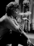"""Lucille Ball Smoking on Show Called """"The Good Years"""" Premium Photographic Print by Leonard Mccombe"""