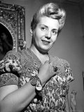 Eva Peron, Wife of Argentinean Pres. Candidate. Posing in Her Apartment Premium Photographic Print by Thomas D. Mcavoy