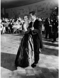 Actress Joanne Woodward Dances with Paul Newman at the 1st Governor's Ball, Beverly Hilton Hotel Premium Photographic Print by J. R. Eyerman