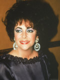 Actress Elizabeth Taylor Premium Photographic Print by David Mcgough