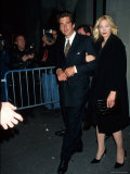 John F. Kennedy Jr. and Wife Carolyn Premium Photographic Print by Dave Allocca