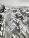 View From Side of Ocean Liner Queen Elizabeth While Crossing the Atlantic Photographic Print by Alfred Eisenstaedt