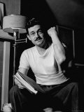 Writer and Director Preston Sturges, in White Tee Shirt, Showing Cut on Arm Premium Photographic Print by Paul Dorsey