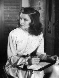 Katharine Hepburn in Early Portrait Premium Photographic Print by Alfred Eisenstaedt