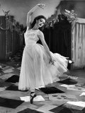 "Ballet Dancer Moira Shearer's Solo Dance in Scene from British Ballet Film ""Red Shoes"" Premium Photographic Print by Nat Farbman"