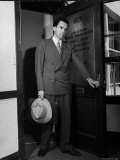 Attorney Richard Nixon in the Doorway of Law Office After Returning From WWII to Resume His Career Premium Photographic Print by George Lacks