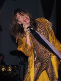 Musician Steven Tyler Performing Premium Photographic Print by Dave Allocca