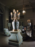 Plaza Hotel Lobby with 18th Century Decor., Chinese Vase on Ormolu Bronze Base from France Premium Photographic Print by Dmitri Kessel