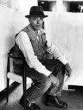 Portrait of German Artist Joseph Beuys at the Guggenheim Museum Premium Photographic Print by Alfred Eisenstaedt