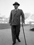 Former US President Harry Truman Taking Early Morning Walk on the Day of His Daughter's Wedding Premium Photographic Print by Alfred Eisenstaedt