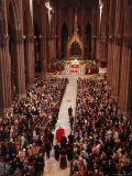 Pope Paul VI Entering Saint Patrick's Cathedral Receive Official Welcome to Archdiocese of New York Premium Photographic Print by Yale Joel