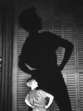 """Actress Mary Martin in Act 1 of """"Peter Pan,"""" When Peter Gets Back His Shadow After Wendy Sews It On Premium Photographic Print by Allan Grant"""