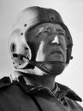Gen. George S. Patton Jr. Observing Training Maneuvers in the Desert Premium Photographic Print by John Florea