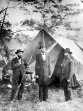 Maj. Allan Pinkerton, US President Abraham Lincoln and Gen. John McClernand, during the Civil War Fototryk i hj kvalitet af Alexander Gardner
