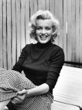 Actress Marilyn Monroe at Home Kunst på metall av Alfred Eisenstaedt