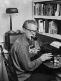 New York Post Columnist Murray Kempton Working at Home Premium Photographic Print by Martha Holmes