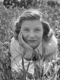 Actress Barbara Bel Geddes Posing in Wild Weeds for Her Portrait Premium Photographic Print by Loomis Dean