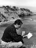 "Gregory Peck Studying Lines for Summer Theater Performance ""Light Up the Sky"" in La Jolla Playhouse Premium Photographic Print by Alfred Eisenstaedt"