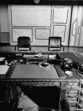 Maps and Furniture in Office That is Part of Suite of the Highest Ranking Officer at the Pentagon Premium Photographic Print by Myron Davis