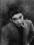 Excellent Portrait of Photographer Robert Capa Smoking Cigarette Premium Photographic Print by Alfred Eisenstaedt