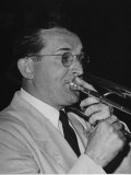 Musician Tommy Dorsey Playing His Trombone Premium Photographic Print by Rex Hardy Jr.