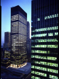 Facades of Seagram Building Designed by Ludwig Miles Van Der Rohe and Lever House Photographic Print by Andreas Feininger