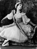"Ballerina Thamara Karsavina Posing in Costume for the Ballet ""Pavilion D'Armide"" Premium Photographic Print by E O Hoppe"