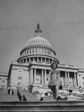 Child Actress Shirley Temple Walking on Steps of the US Capitol Premium Photographic Print by Thomas D. Mcavoy