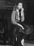 "Actress Jane Fonda, 22, During Rehearsal for the Broadway Play ""There Was a Little Girl"" Premium Photographic Print by Leonard Mccombe"